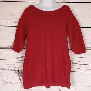 Old Navy Red Knitted Sweater Dress